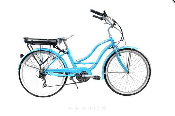 "Micargi Electric Bikes 26"" / Sky Blue Micargi Bali Womens 48V 350W Step Through Electric Bike"