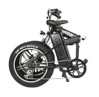 "Nakto Electric Bikes 20"" / Black Nakto 48V 20"" Fat Tire Folding Mini Cruiser Electric Bike"