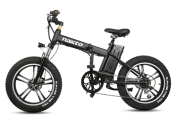 "Nakto 48V 20"" Fat Tire Folding Mini Cruiser Electric Bike"