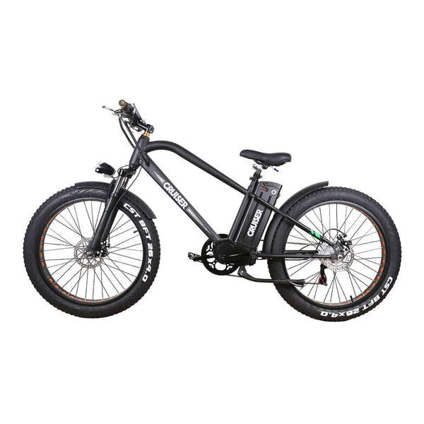 "Nakto Electric Bikes 26"" / Black Nakto 500W 48V 12ah Fat Tire Electric Bicycle 26"" Super Cruiser"