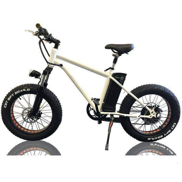 "Nakto Electric Bikes Nakto Fat Tire 36V E-Bike 20"" Mini Cruiser"