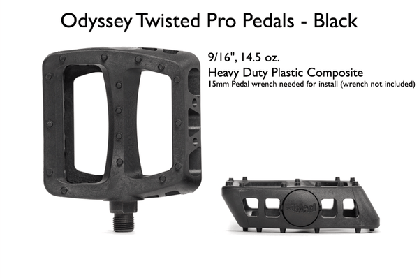 Odyssey Accessories Odyssey Twisted Pro Pedals - Black