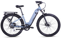 "Ride1Up Electric Bikes 27.5"" / Blue Steel Ride1Up 700 Series 48V Electric Cruiser City Bicycle - Step Thru"