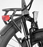 "Ride1Up Electric Bikes 27.5"" / Matte Gray Ride1Up 700 Series 48V Electric Cruiser City Bicycle"