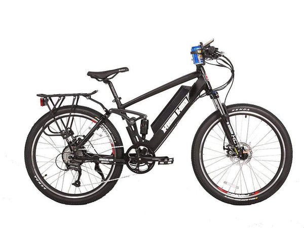 X-Treme Electric Bikes One Size / ALL BLACK X-Treme Rubicon 48V 500W Full Suspension Mountain eBike