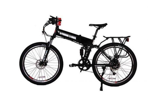 X-Treme Electric Bikes One Size / Black X-Treme Baja 48V Folding Full Suspension Mountain eBike