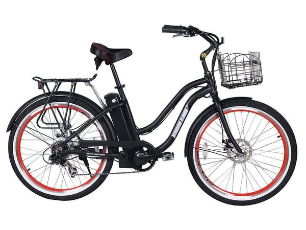 X-Treme Electric Bikes One Size / Black X-Treme Malibu Elite Max 36V Step Through Beach Cruiser eBike