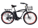 X-Treme Electric Bikes One Size / Black X-Treme Newport Elite Max 36V Beach Cruiser eBike