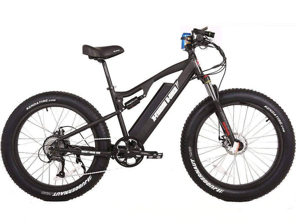X-Treme Electric Bikes One Size / Black X-Treme Rocky Road 48V 17 aH 500W Fat Tire Full Suspension eBike