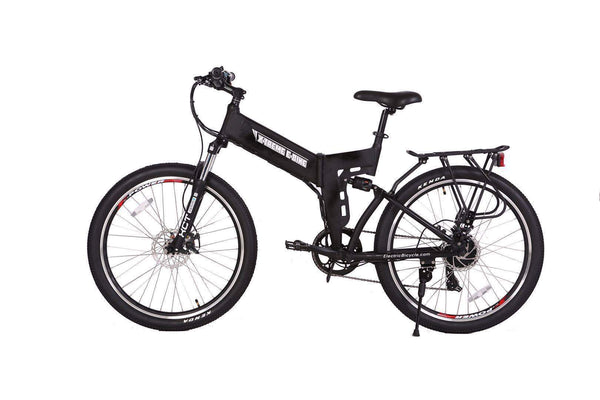 X-Treme Electric Bikes One Size / Black X-Treme X-Cursion Elite Max 36V Folding Full Suspension Mountain eBike