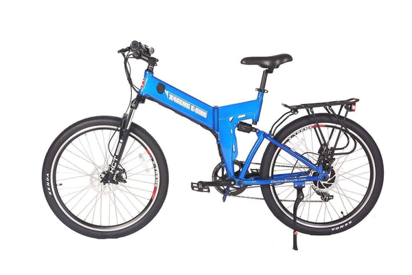 X-Treme Electric Bikes One Size / Blue X-Treme X-Cursion Elite Max 36V Folding Full Suspension Mountain eBike
