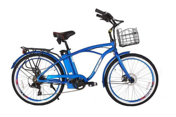 X-Treme Electric Bikes One Size / Metallic Blue X-Treme Newport Elite 24V Beach Cruiser eBike