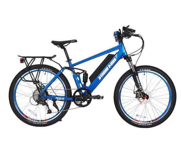 X-Treme Electric Bikes One Size / Metallic Blue X-Treme Rubicon 48V 500W Full Suspension Mountain eBike