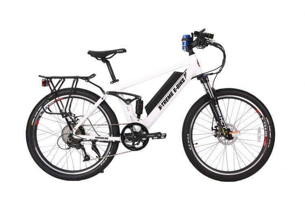 X-Treme Electric Bikes One Size / Metallic White X-Treme Rubicon 48V 500W Full Suspension Mountain eBike