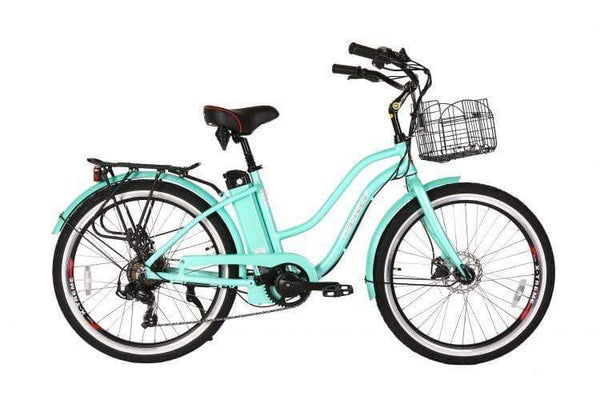 X-Treme Electric Bikes One Size / Mint Green X-Treme Malibu Elite Max 36V Step Through Beach Cruiser eBike