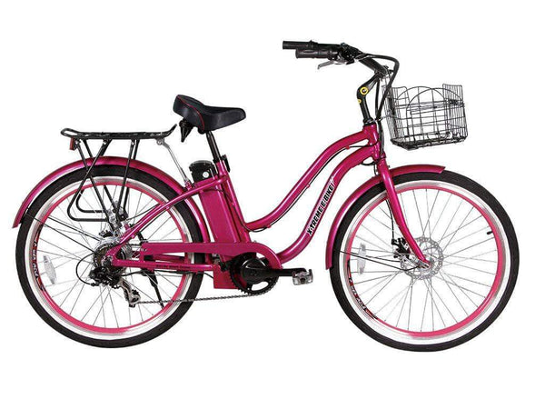 X-Treme Electric Bikes One Size / Pink X-Treme Malibu Elite Max 36V Step Through Beach Cruiser eBike