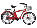 X-Treme Electric Bikes One Size / Red X-Treme Newport Elite 24V Beach Cruiser eBike
