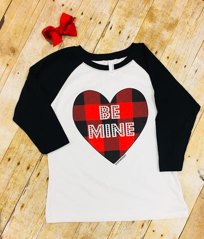 Kids Be Mine Baseball tee
