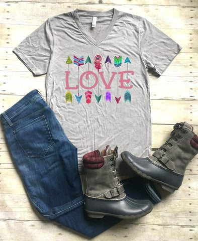 Colorful Love Arrow tee