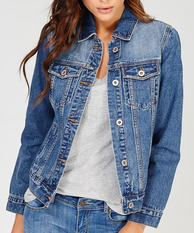 Distressed Denim Jean Jacket