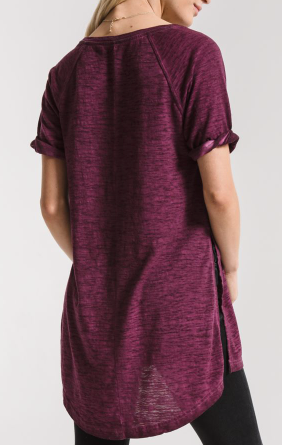 Maroon Side Slit top