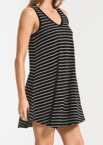 Black/White Stripe Tank Dress