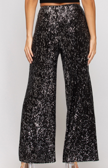 Black/Silver Sequin Pants