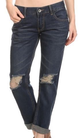 Kimmie Distressed Denim