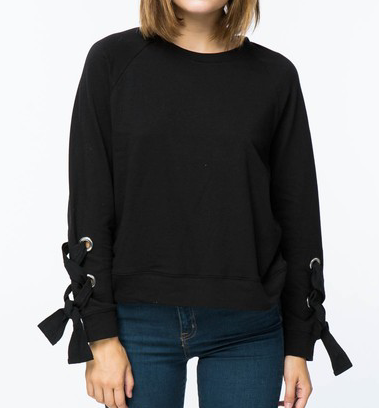 Addison laceup sweatshirt