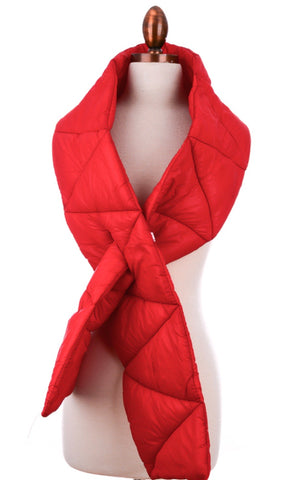 Red Puffy Scarf