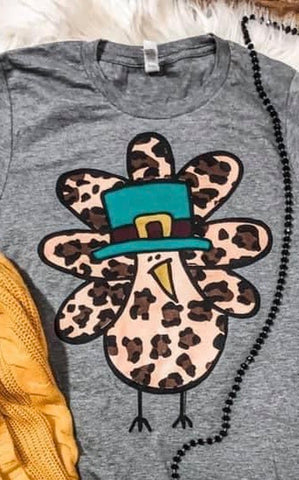 Kids Cute Leopard Turkey tee