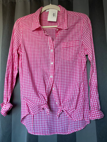 Hot pink gingham top