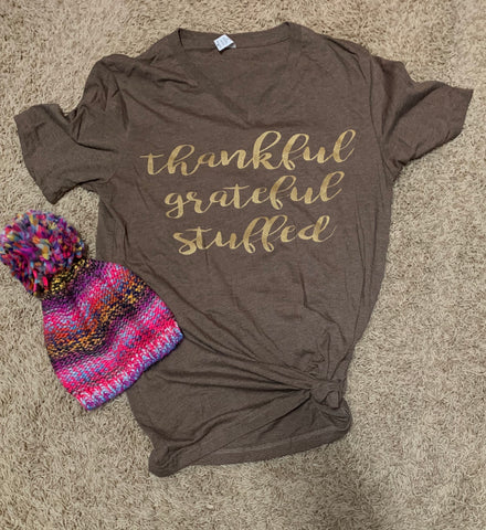 Thankful grateful stuffed tee