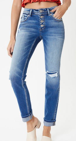 Crissy button fly jeans