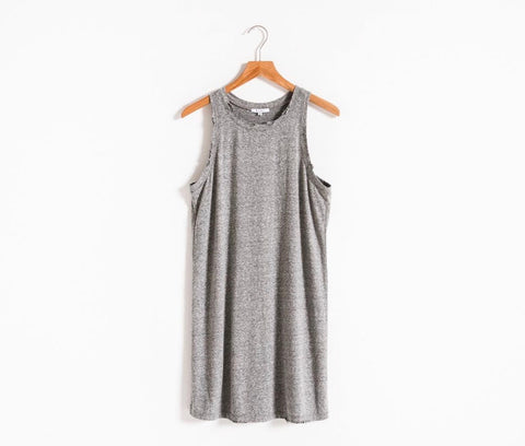 Mallie Muscle distressed tank dress