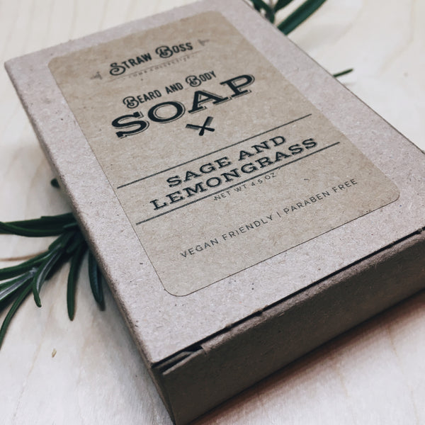 Beard & Body Soap - Sage and Lemongrass