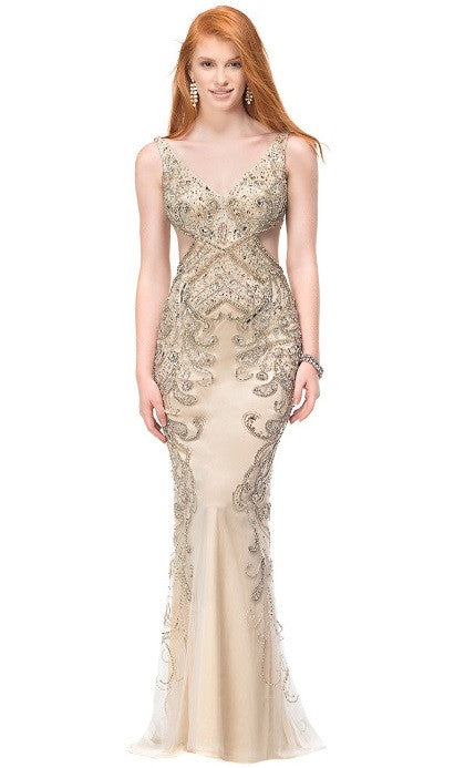 Long Evening Gold Dress - Prom And Bridal Dress House