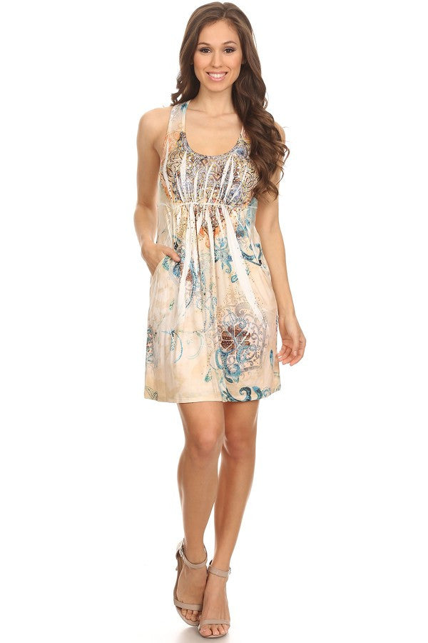 S Twelve Summer Short Printed Dress - Prom And Bridal Dress House