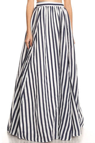Maxi Striped Skirt AG Studio made in US - Prom And Bridal Dress House