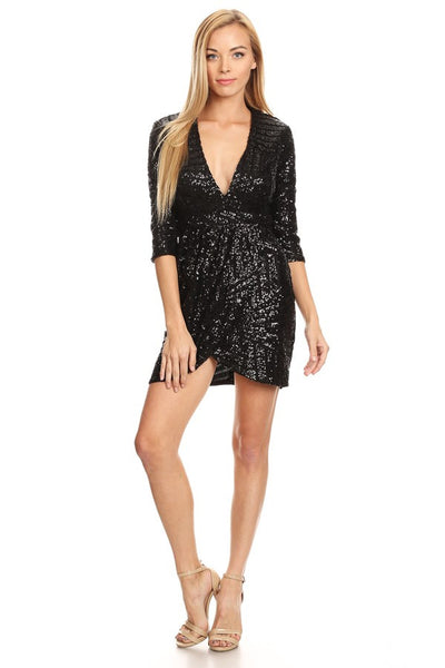 Short Sequin Cocktail Dress