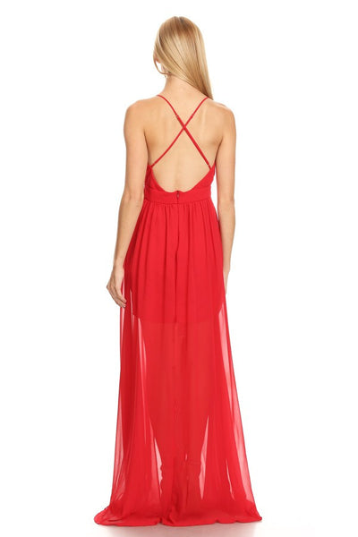 Long Prom Cocktail Chiffon Dress