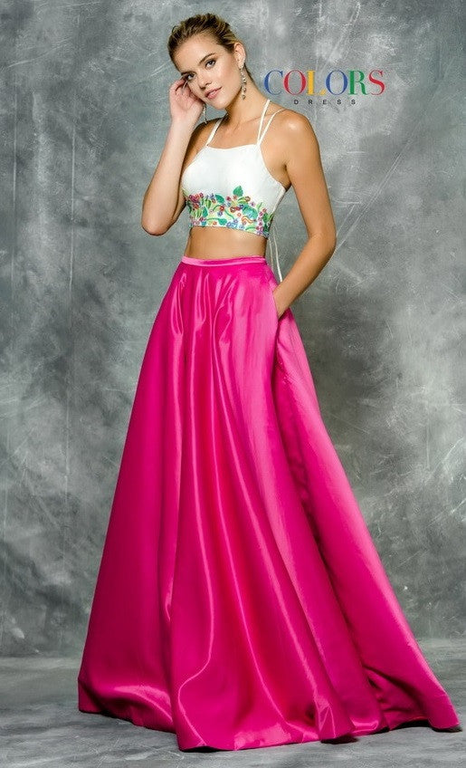 Two Pieces Prom Evening Long Dress
