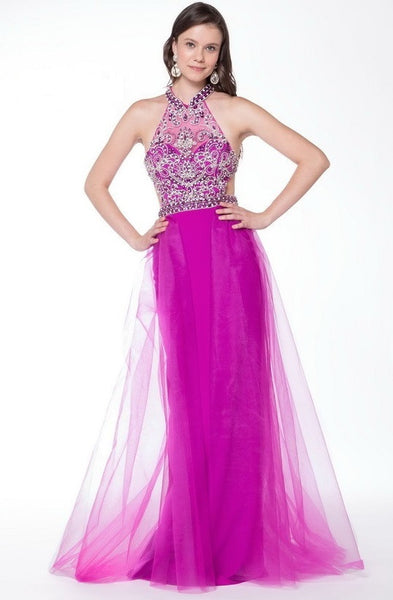 Prom Halter Neck Crepe Dress - Prom And Bridal Dress House