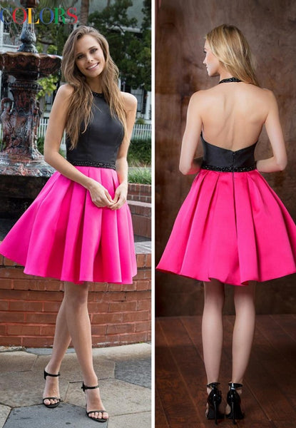 Halter Short Mikado  Dress - Prom And Bridal Dress House