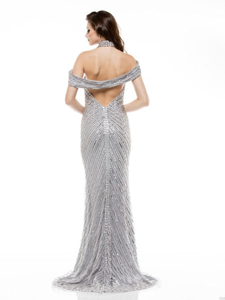 Off Shoulder Mesh Long Dress - Prom And Bridal Dress House
