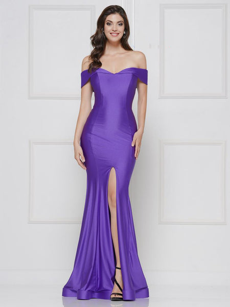 Off Shoulder Long Evening Gown