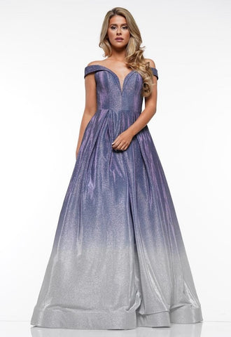 Off Shoulder Evening Long Dress
