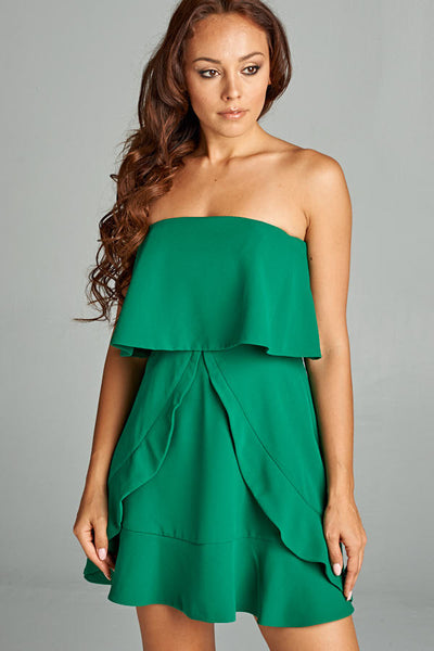 Little Lover Strapless Short Dress