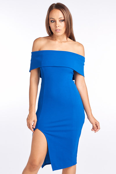 Keep it Wondrous Off Shoulder Midi Dress - Prom And Bridal Dress House
