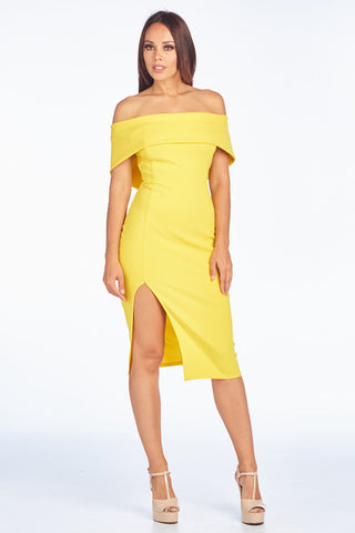 Keep it Wondrous Off Shoulder Midi Dress